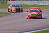 Liam Griffin (Ford Focus) leads Frank Wrathall (Toyota Avensis) - MSA British Touring Car Championship