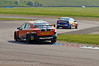 Frank Wrathall (Toyota Avensis) chases Andrew Jordan (Vauxhall Vectra) through the complex - MSA British Touring Car Championship