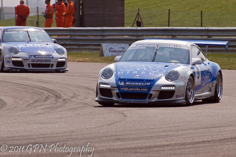 Michael Meadows leads Jonas Gelzinis - Porsche Carrera Cup