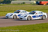 Team mates Charlie Robertson & Michael Day dicing - Ginetta Junior Championship