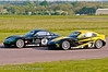 William Foster & Jake Giddings dicing - Ginetta Junior Championship