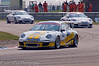 George Brewster leads the field around the complex - Porsche Carrera Cup