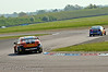 Frank Wrathall (Toyota Avensis) chases Andrew Jordan (Vauxhall Vectra) - MSA British Touring Car Championship