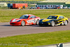 Struan Moore leads Jake Giddings - Ginetta Junior Championship