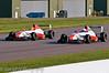 Mitchell Gilbert dives inside Pedro Pablo Calbimonte - Formula Renault 2.0 UK Championship