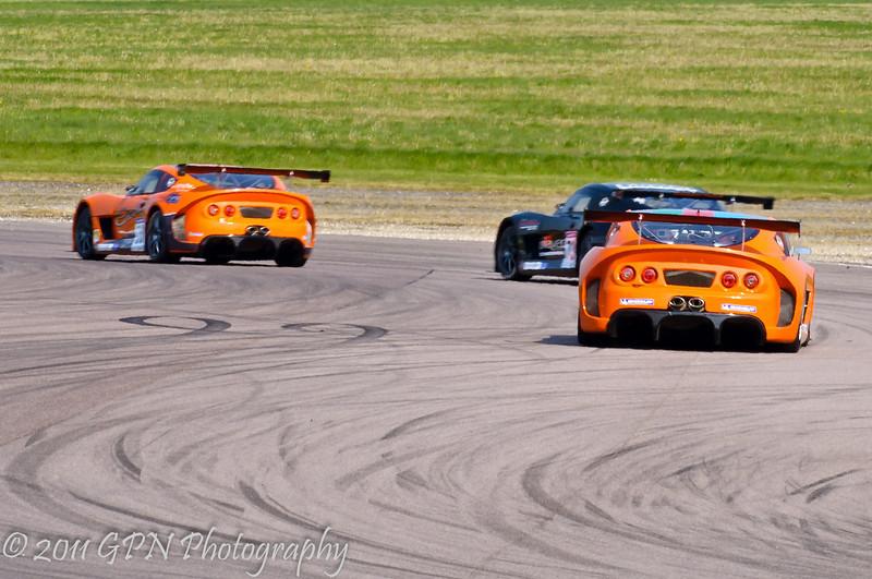 Adam Morgan leads Nathan Freke & Tom Sharp (Ginetta G55) - Ginetta GT Supercup