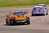 Frank Wrathall (Toyota Avensis) chases John George (Chevrolet Cruze) - MSA British Touring Car Championship