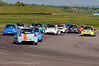 The tail-enders on the first lap - Renault Clio Cup UK