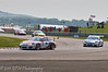 Michael Caine leads Stephen Jelley around the complex - Porsche Carrera Cup