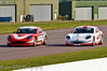 Seb Morris & George Gamble dicing for the lead - Ginetta Junior Championship