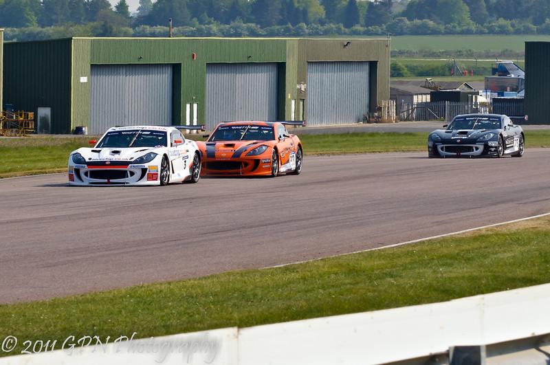 Carl Breeze leads Adam Morgan & Nathan Freke (Ginetta G55) - Ginetta GT Supercup