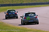 Aron Smith chasing Jack Goff - Renault Clio Cup UK