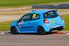 Nicolas Hamilton rides the kerbs - Renault Clio Cup UK