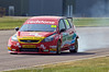 Liam Griffin (Ford Focus) locked up under braking for the complex - MSA British Touring Car Championship