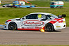 Rob Austin (Audi A4) spitting flames - MSA British Touring Car Championship