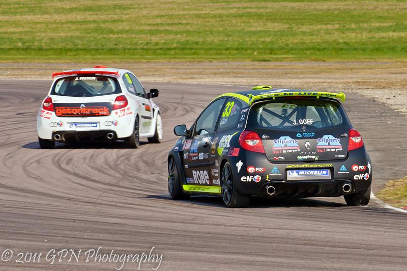Jack Goff chasing Jake Packun - Renault Clio Cup UK