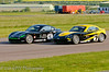 William Foster leads Jake Giddings - Ginetta Junior Championship