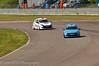 Nicolas Hamilton leads Paul Rivett - Renault Clio Cup UK