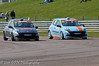 Tom Grice & Darren Wilson dice for position  - Renault Clio Cup UK