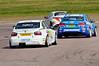 Rob Collard (BMW 320si) chases Jason Plato (Chevrolet Cruze) & Gordon Shedden (Honda Civic) - MSA British Touring Car Championship