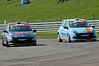 Tom Grice dives inside Darren Wilson - Renault Clio Cup UK