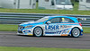 Aiden Moffat driving the Laser Tools Racing team's Mercedes Benz A-Class in the Kwik Fit British Touring Car Championship at Thruxton Circuit.