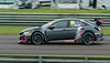 Josh Cook driving the BTC Racing team's Honda Civic Type R in the Kwik Fit British Touring Car Championship at Thruxton Circuit.
