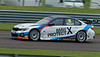 Tom Oliphant driving the Team BMW's BMW 330i M Sport in the Kwik Fit British Touring Car Championship at Thruxton Circuit.