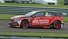 Adam Morgan driving the Mac Tools with Ciceley Motorsport team's Mercedes Benz A-Class in the Kwik Fit British Touring Car Championship at Thruxton Circuit.