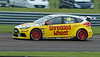 Ollie Jackson driving the Team Shredded Wheat Racing with Gallagher team's Ford Focus RS in the Kwik Fit British Touring Car Championship at Thruxton Circuit.