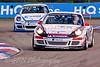 Glynn Geddie leads Oliver Jackson (Porsche Carrera Cup)
