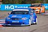 Mat Jackson (Chevrolet Lacetti) leads Colin Turkington (BMW 320si)