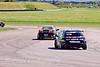 Martyn Bell (Honda Integra) leads James Thompson (Honda Civic)