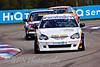 Martyn Bell (Honda Integra) leads John George (Honda Integra) and Colin Turkington (BMW 320si)