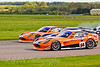 First lap action for the Ginetta G50 race