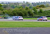 Steven Hunter & Andrew Herron pass Patrick Collins after a spin (Renault Clio Cup)