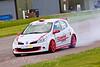 Carl Bradley braking hard (Renault Clio Cup)
