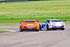 Daniel Welch trying to pass Carl Breeze (Ginetta G50)
