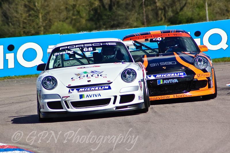 Tommy Dreelan leads Paul Mace (Porsche Carrera Cup)