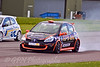 Robert Gaffney locks up while passing Darren Wilson (Renault Clio Cup)