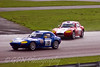 Ashley Bird (Ginetta G20 GT4 Coupe) passes James Jefferson (Ginetta G20 Junior GT4) as he loses it!