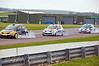 Niki Lanik locks up trying to keep the position (Renault Clio)