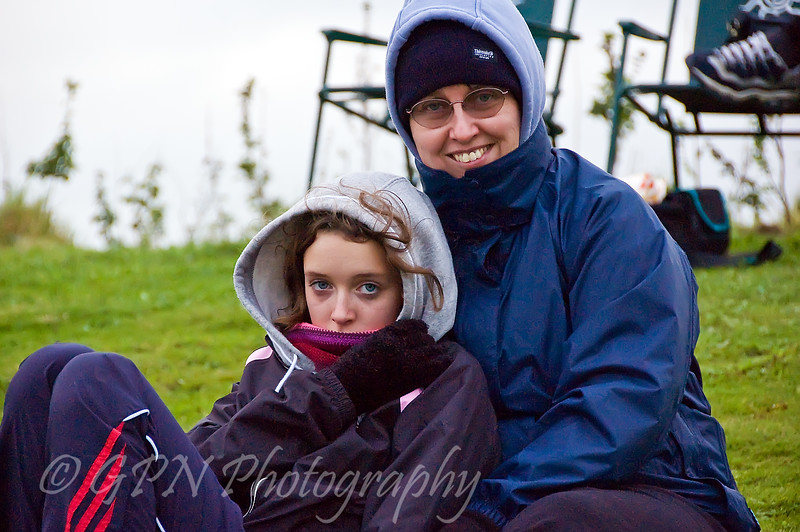 Mary & Becky feeling cold!