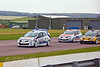 The pack enter the complex (Renault Clio)