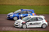 Martin Byford passes Jim Edwards Jnr (Renault Clio)