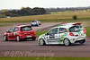 Mel Healey chased by Jonathan Fildes & Phillip House (Renault Clio)
