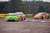Rob Collard (Seat Leon) leads the Honda Civic teammates Gordon Shedden & Matt Neal