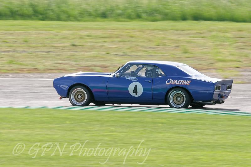 Alex Thistlethwaite driving a class HTC INV Chevrolet Camaro taken at Thruxton 50th Anniversary Celebration race meeting.