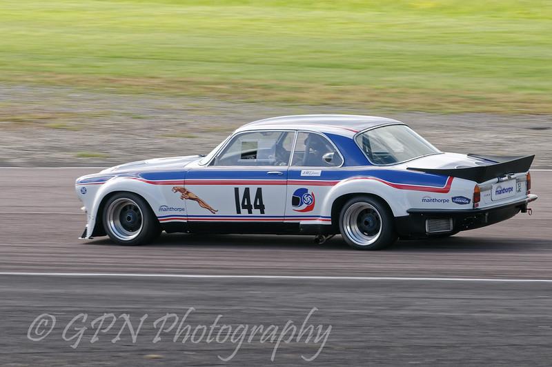 Paul Pochcoil/James Hansen driving the class HTC INV Jaguar XJ12C taken at Thruxton 50th Anniversary Celebration race meeting.