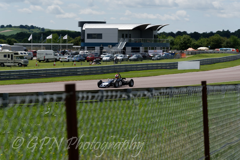 Adrian Langridge driving a Lotus 61 Historic Formula Ford 1600 taken at Thruxton 50th Anniversary Celebration race meeting.